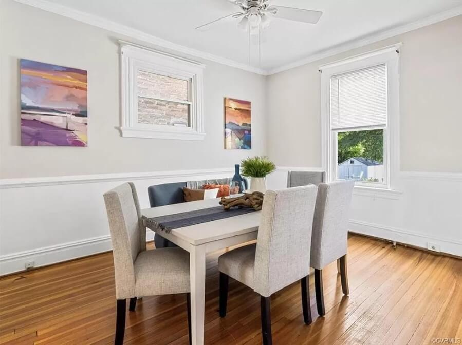 Flat Panel Wainscoting for Dining Room